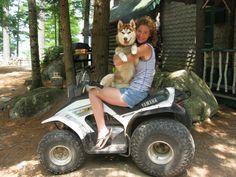 Four wheeling with my siberian husky!