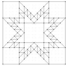 KISSed Quilts - Keeping It Simple and Stunning: Feathered Star -- Star of Chamblie 38x38 grid