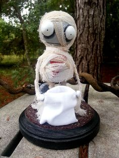 Handmade Figurine Nimbus the Mummy by MoodyVoodies on Etsy