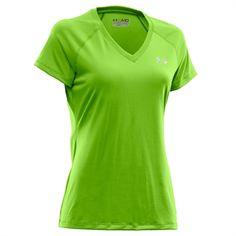 Under Armour® HeatGear® UA Tech™ Tee #VonMaur #UnderArmour #Green #VNeck