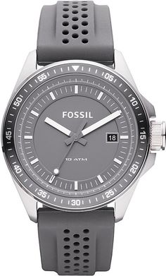 Fossil Men's AM4387 Stainless Steel Analog Grey Dial Watch < $63.00 > Fossil Watch Men