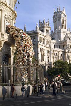 Alicia Martin. Biografias 2003, site specific installation, Casa de America, Madrid