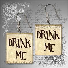 Drink Me  Alice in Wonderland Inspired Scrabble by DBLDCreations, $9.00