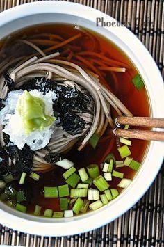 쯔유 만들기, 모밀 국수 레시피, 일본 요리, K Food, Food Menu, Good Food, Food Porn, Yummy Food, Korean Side Dishes, Korean Food, Food Presentation, Food Design