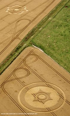 Crop Circle at Green Street (2), Nr Avebury, Wiltshire, United Kingdom. Reported 8th August 2014