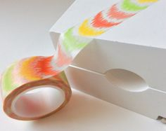 Bright Summer Mexican Bleached Chevron Washi Tape - 20mm x 10m roll