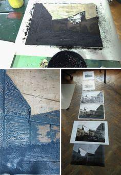 Laura Kozma: PRINTING Project - day 5 …printing a lino plate