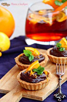 Tartaletky s čokoládovým orange curd Minion, Waffles, Cheesecake, Pie, Lunch, Orange, Breakfast, Desserts, Cupcakes