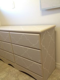 For the dresser idea and the wallpaper- maybe for the master bath?....