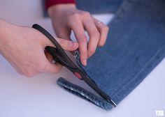 Denim DIY: How To Do Raw Frayed Hem Jeans