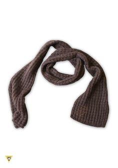 sciarpa lavorazione a rete, in lana mohair, colore marrone
