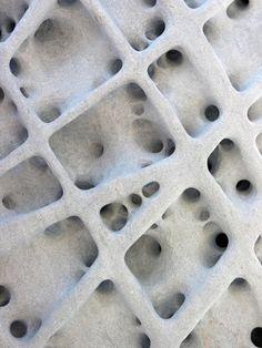 Porous stone.
