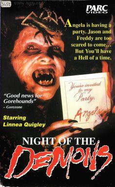 vhs-ninja    Night of the Demons (1988).