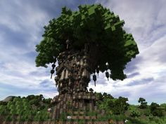 The old Oak - Survival Tree House Minecraft Project
