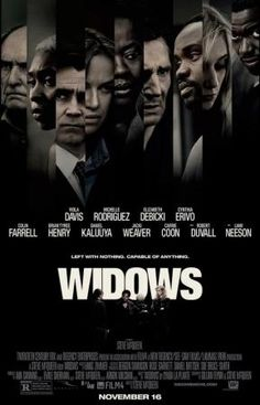 Steve McQueen is back at the helm with Widows. Starring Viola Davis, Liam Neeson, Colin Farrell, Daniel Kaluuya, Robert Duvall and Michelle Rodriguez. 2018 Movies, New Movies, Movies To Watch, Movies Online, Movies And Tv Shows, Movies Free, Prime Movies, Movies Box, Steve Mcqueen