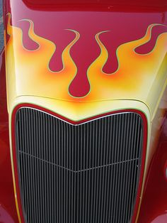 Rad flames and big grille!