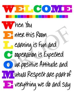 Welcome Back To School Bulletin Boards Ideas Classroom Welcome, Classroom Rules Poster, Classroom Signs, Classroom Quotes, Classroom Bulletin Boards, Classroom Displays, Teacher Quotes, Classroom Organization, Classroom Management