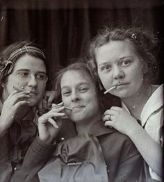 These female portraits made by an itinerant photographer named Hugh Mangum, who rode the trains to the small towns of North Carolina, Virginia and West Virginia, 1909 - 1912