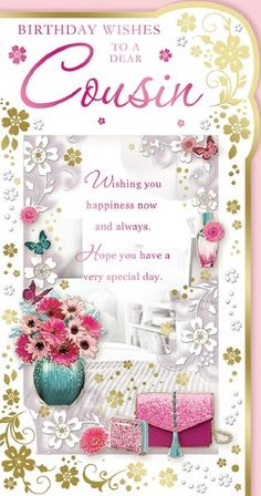 happy birthday cousin images with butterflies - Bing images Happy Birthday Wishes Cousin, Birthday Greetings For Women, Happy Birthday Greetings Friends, Cousin Birthday, Happy Birthday Wallpaper, Birthday Wishes And Images, Happy Belated Birthday, Birthday Cards For Women, Birthday Music