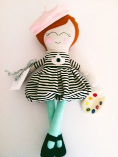Georgette Cloth Doll Softie Rag Doll Artist by MyLittleLuvsbyAmy