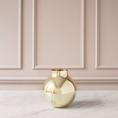 SKULTUNA Boule Vase, Round in Polished Brass #designstuff
