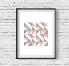 Colorful Poster Colorful Print Geometric Art Scandinavian Print Scandinavian Poster Triangle Poster Triangle Art Pattern Print Abstract Art
