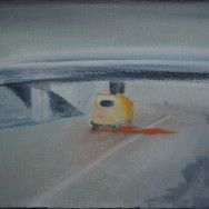 Still, 30 x 40 cm, from my fathers movie 'Egmond aan Zee (1962), showm at VPRO thema kanaal in 2005.