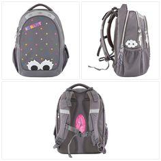 Schulrucksack mit Hauptfach, 2 Vordertaschen und 2 Seitentaschen Yu Gi Oh, School Supplies, Sling Backpack, Backpacks, Bags, Side Bags, School, School Stuff, Handbags