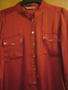 A Wear Rust / Burnt Orange Women's / Girls Blouse / Top Size 6 / 8