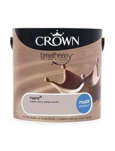 Hare - Matt - Standard Emulsion   Crown Paints