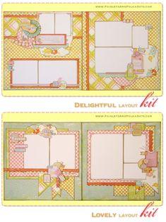 Scrapbook Kits Mini Album Minibook Papercrafting Projects from Paisleysandpolkadots.com Monthly Project Kit Club