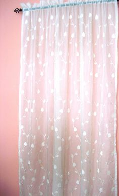 White sheer curtains with purple flower design 60 x 62 white white sheer curtain with white leaf embroidery 60 x mightylinksfo