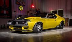 Ringbrothers' 1,100 hp AMC Javelin AMX Defiant is Excruciatingly Cool - ThrottleXtreme Project Cars For Sale, Automobile, Amc Javelin, Best Gas Mileage, American Motors, Pony Car, Pontiac Firebird, Ford Bronco, Cars