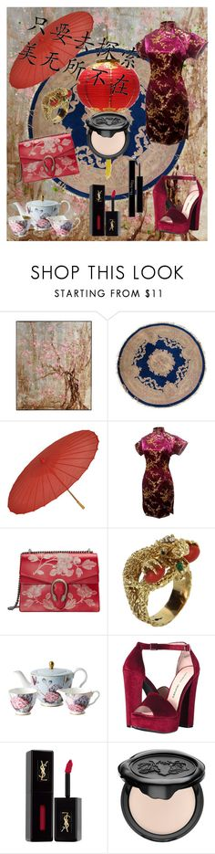 """""""Chinese inspiration"""" by spookie1 ❤ liked on Polyvore featuring Gucci, Vintage, Wedgwood, Chinese Laundry, Yves Saint Laurent, Kat Von D and Christian Dior"""