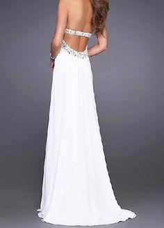 Cheap Bridal Shop 2012 Pure Falt Strapless Low Back Long Chiffon Evening Gown (TSEG-023)