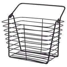 7d3a0f8ac87f Dish Drainers · Heavy Duty Black Wire Storage Basket / Tidy with Carry  Ha... https: