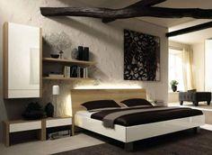 Dormitorio con un aire rústico