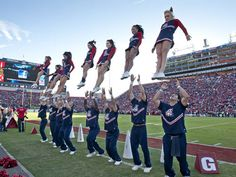 The University of Arizona Wildcats cheerleaders - check out that air!