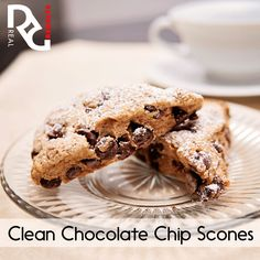 Erin's Clean Chocolate Chip Scones 1 ½ cups whole wheat flour 1 ½ tsp. baking powder ½ tsp. salt 2 TB unsalted butter, very cold and cubed ½ cup plain nonfat Greek yogurt 3 TB maple syrup 2 TB + 2 tsp. nonfat milk 1 tsp. vanilla extract 2 ½ TB miniature chocolate chips, divided  Find Instructions on