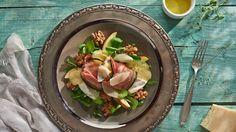 Zapekaný Camembert v baklažáne a sušenej šunke Potato Salad, Potatoes, Ethnic Recipes, Food, Ms, Meal, Potato, Essen, Hoods