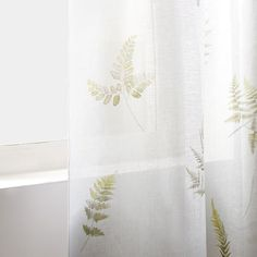 Image of the product FERN PRINT LINEN CURTAIN