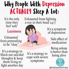 Why people with depression actually sleep a lot? Mental And Emotional Health, Mental Health Matters, Mental Health Quotes, Mental Illness Awareness, Depression Awareness, Understanding Anxiety, Mental Disorders, Psychology Facts, Stress And Anxiety