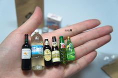 little tiny things:  beverage bottles