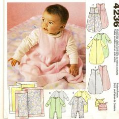 An Infant's Bunting, Jumpsuits, Hat and Blanket Pattern