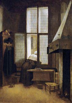 Jacobus Vrel - Woman at a Window, via Dutch Interiors on Tumblr