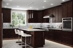 Freeport #RTAcabinet door style from the Atlanta Cabinetry Line available from Cabinets Express.