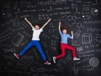 Cute boy and girl learning playfully in frot of a big blackboard Math Games For Kids, Educational Games For Kids, Toy Theatre, Theater, Early Math, Shared Folder, Math Concepts, Learning Resources, Taking Pictures