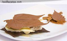 Milhojas de otoño  otra manera de hacer las hojas: http://conmuchogustomar.blogspot.com.es/2012/11/merengue-de-moras-entre-hojas-de.html
