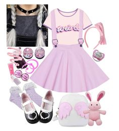 """lila - daycare day"" by kinathegreat ❤ liked on Polyvore featuring moda, Benefit, Lancôme, Essie y Ooh! La, La! Couture"