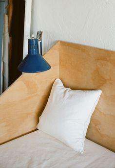 jesse kamm on apiece apart. Home Interior Design, Interior And Exterior, Murphy Bed Ikea, Sweet Home, Natural Bedding, Art Deco, Home Bedroom, Bedrooms, Bedroom Ideas